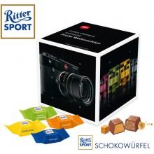 Adventskalender Cube mit Ritter Sport Schokowuerfeln