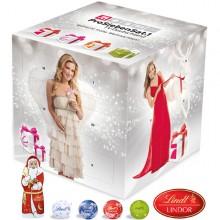 Adventskalender Cube mit Lindt Minis und Weihnachtsmann