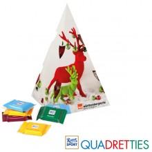 Präsent Weihnachtsbaum Ritter Sport Quadrettis, inkl. 4-farbigem Druck
