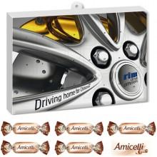 Premium Praesent-Adventskalender mit Amicelli Miniatures