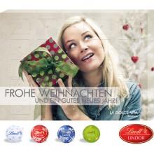 Tisch-Adventskalender Gourmet Edition mit Lindt & Srpüngli Minis