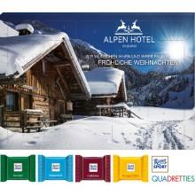 Tisch Adventskalender Ritter Sport Quadretties als Werbeartikel