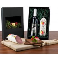 Weihnachts-Salami mit Wein